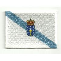 Parche bordado y textil BANDERA GALICIA 7CM X 5CM