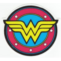 WONDER WOMAN textile patch round 8cm