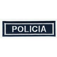 Parche bordado POLICIA 25m x7.5cm