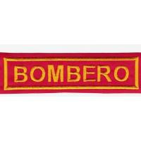 Parche bordado BOMBERO 10,5m x 3cm