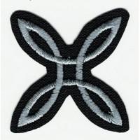 Embroidered patch BLACK MONTURA 4cm x 4cm