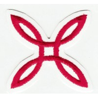 Embroidered patch WHITE MONTURA 4cm x 4cm