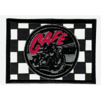 Embroidered patch CAFE RACER BANDERA META 7cm x 5cm