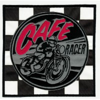 Embroidered patch CAFE RACER BANDERA META 11cm x 11cm