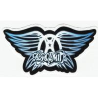 Parche textil azul AEROSMITH 9CM X 5CM