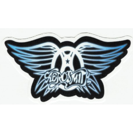Blue textile patch AEROSMITH 9CM X 5CM