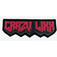 Textile and embroidery patch CRAZY LIXX 10CM X 3CM