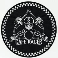 Parche bordado CAFE RACER PISTONES 17,5cm diámetro