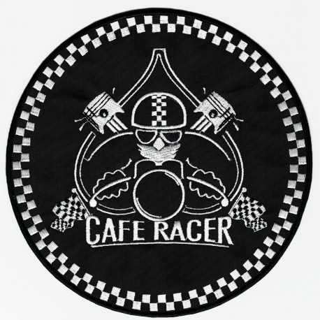embroidery patch CAFE RACER PISTONS 17,5cm diameter