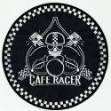 embroidery patch CAFE RACER PISTONS 30cm diameter