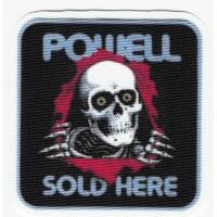 Parche textil POWELL SOLD HERE 5,5cm X 5,5cm