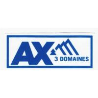textile patch AX 3 DOMAINES 9CM X 3,5CM