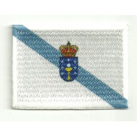 Patch embroidery and textile FLAG GALICIA 4CM X 3CM