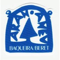 Parche textil BAQUEIRA/BERET 7cm x 7cm