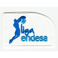 Embroidered patch LEAGUE WHITE ENDESA 6.5cm x 4.5cm