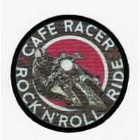 Patch embroidery and textil CAFE RACER ROCK'N'ROLL 7,5cm