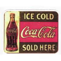 textiles patch ICE COLD COCA COLA 10cm x 8cm
