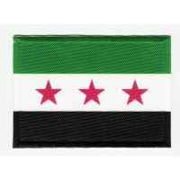 Embroidered patch and textile FLAG SYRIAN OPPOSITION GROUPS 4CM x 3CM