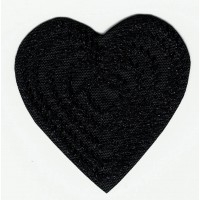 Embroidered patch BLACK HEART 6cm x 6cm