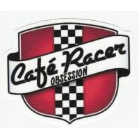 Parche textil CAFE RACER OBSESSION 8cm x 7cm