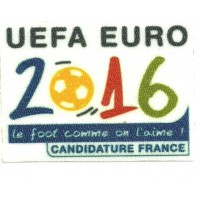 Parche textil y bordado UEFA EURO 2016 FRANCE 8CM X 6CM