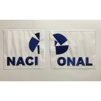 Cut NACIONAL Embroidery Patch 27cm x 14cm