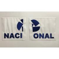 Parche bordado NACIONAL cortado 27cm x 14cm