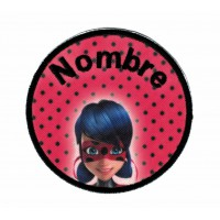 Textil and Embroidery Patch LADYBUG YOUR NAME 7,5cm