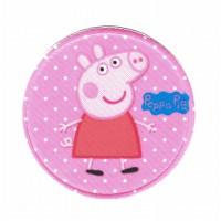 Parche textil y bordado PEPPA PIG ROSA 7,5CM