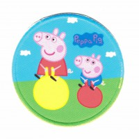 Textil and embroidered patch PEPPA AND GEORGE 7,5cm