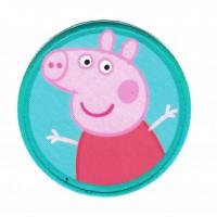 Parche textil y bordado PEPPA PIG VERDE 7,5CM