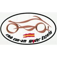 Patch embroidery CLUB CAN-AM SPYDER ESPAÑA 9cm x 5cm