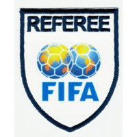 Textile and embroidery patch REFEREE FIFA 6,5cm x 8cm