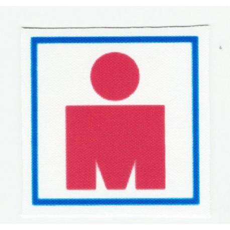 Parche textil IRONMAN 4,5cm x 4.5cm