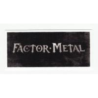 Parche textil FACTOR METAL 10cm x 4.5cm