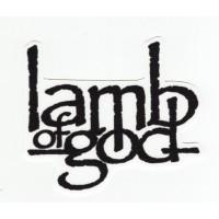 Textile patch LAMB OF GOD 8,5cm x 7,5cm