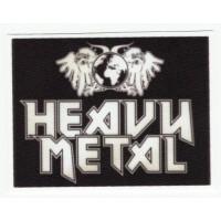 Parche textil HEAVY METAL 9cm x 7cm