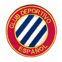 Parche bordado y textil CLUB DEPORTIVO ESPAÑOL BARCELONA 8cm