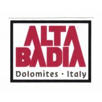 textile Patch DOLOMITES ALTA BADIA 8,5cm x 6,5cm