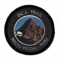 textile and embroidered patch INCA TRAIL MACHU PICCU PERU 5cm