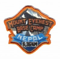 textile and embroidered patch MOUNT EVEREST BASE CAMP 5cm