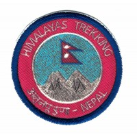 Textile and embroidered patch HIMALAYAS TREKKING 5cm