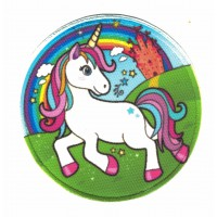 Textil and embroidered patch UNICORN COLORS 7,5CM