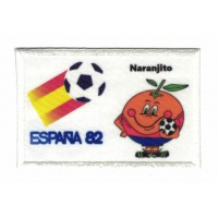 Parche bordado y textil ESPAÑA 82 NARANJITO 7,5cm x 5cm