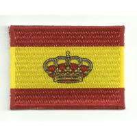 Parche bordado y textil BANDERA NAUTICA ESPAÑA 4cm x 3cm