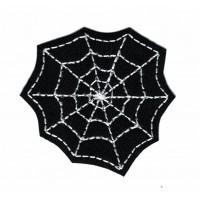Parche bordado BLACK SPIDERWEB HALOWEEN 5,5m x 6cm