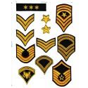 Embroidered patches PACK GALLONS 20cm x 29cm