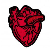 Patch embroidery ANATOMICAL HEART 6cm x 7cm