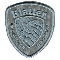 Parche bordado BLAUER beige 6,5cm x 8cm