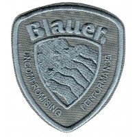 Patch embroidery BLAUER Gray 3.3cm x 4cm